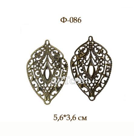 Ф-086 Филигрань (античная бронза). Декоративные элементы ручной работы на заказ