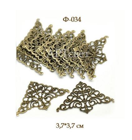 Ф-034 Уголки металлические. Декоративные элементы ручной работы на заказ