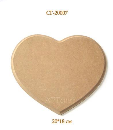 """СГ-20007  Панно """"Сердце"""" №1. Заготовки для декупажа ручной работы на заказ"""