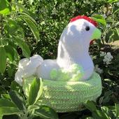 Символ года 2017 года Вязаная курица пеструшка, грелка для яиц