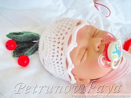 """Конверт """"Вишенка""""  для новорожденных ручной работы на заказ"""
