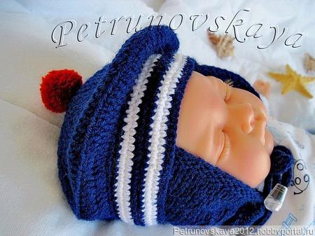 """Конверт """"Морячок"""" для новорожденных ручной работы на заказ"""