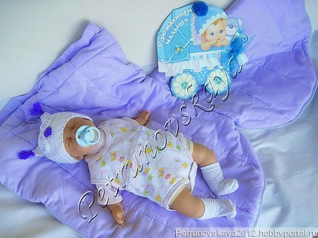 """Конверт """"Совёнок""""  для новорожденных ручной работы на заказ"""