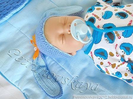 """Конверт """"Заинька""""  для новорожденных ручной работы на заказ"""