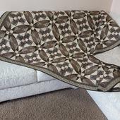Двухспальное одеяло – покрывало ручной работы