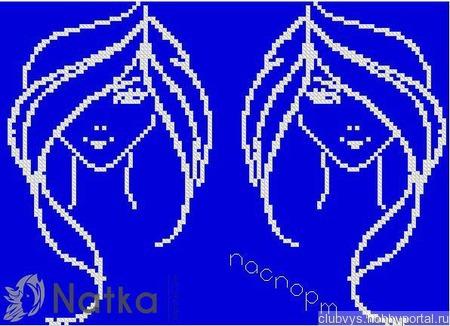 Схема вышивки обложки на паспорт ручной работы на заказ