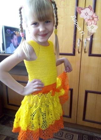Платье Летнее настроение ручной работы на заказ