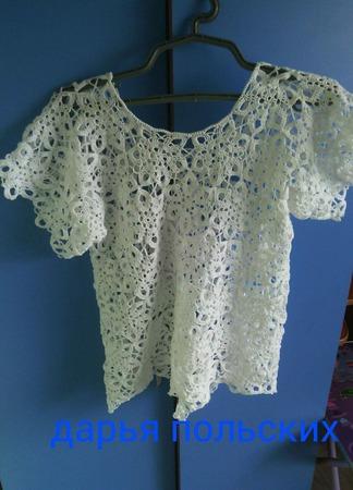 Блуза Анабет ручной работы на заказ