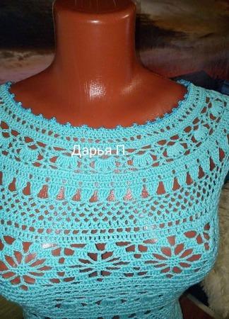 Платье Бирюза ручной работы на заказ