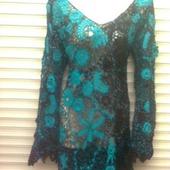 Вязаное вечерние платье