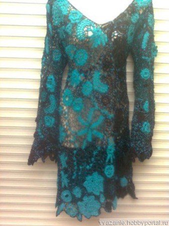 Вязаное вечерние платье ручной работы на заказ
