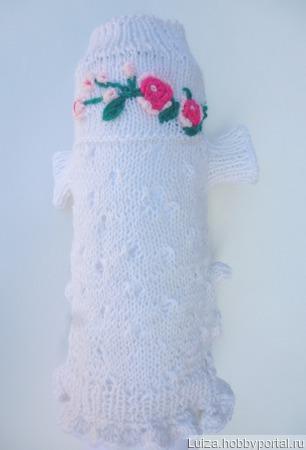 """Платье """"Майский вечер"""" вязаное ажуром ручной работы на заказ"""