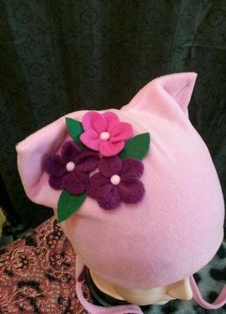 """Шапка  для девочки """"Весенний цветок"""" ручной работы на заказ"""