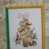 """Вышитая картина """"Новогоднее угощение"""""""