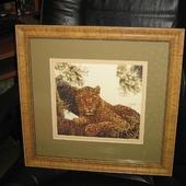 """Вышитая картина.""""Сомалийский леопард """""""