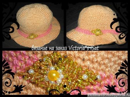 Эксклюзивная вязаная шляпка ручной работы на заказ
