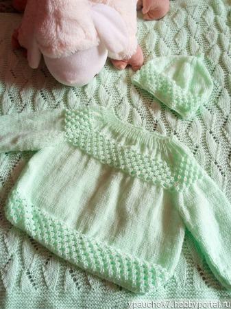 Мятный комплект для новорожденного ручной работы на заказ