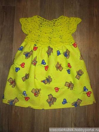 Платье Мишки ручной работы на заказ