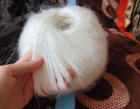 Пряжа пуховая ручной работы на заказ