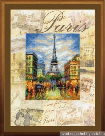«Города мира, Париж» ручной работы на заказ