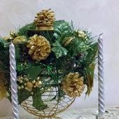 Текстильный новогодний шар