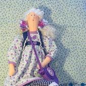 Текстильная кукла Сирень