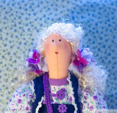 Текстильная кукла Сирень ручной работы на заказ