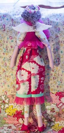 Текстильная кукла в цветочном веночке. ручной работы на заказ