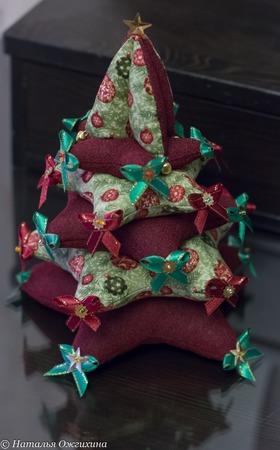 Текстильная елка ручной работы на заказ