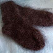 Пуховые серые носки на взрослого