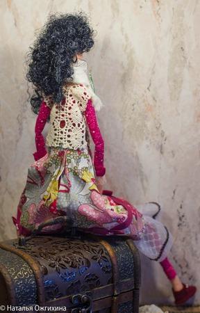 Текстильная кукла с ящеркой ручной работы на заказ