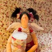 Текстильная кукла  Чистюля