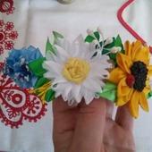 """Ободок """"Полевые цветы"""""""