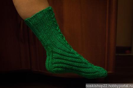 Носки женские полушерстяные ручной работы на заказ
