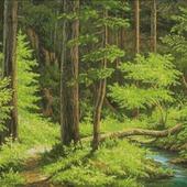 """Схема вышивки """"Ручей в лесу"""""""