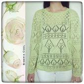 Вязаный свитер Деревья