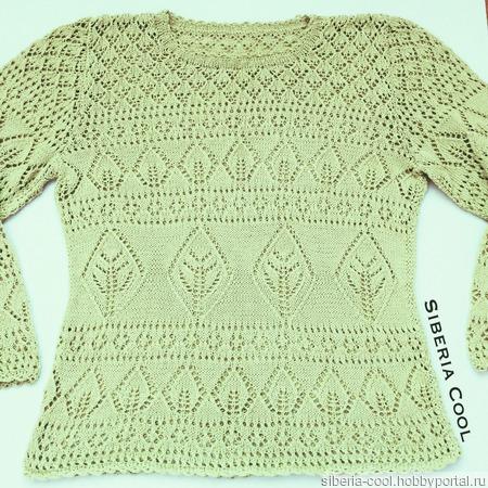 """Вязаный свитер """"Деревья"""" ручной работы на заказ"""
