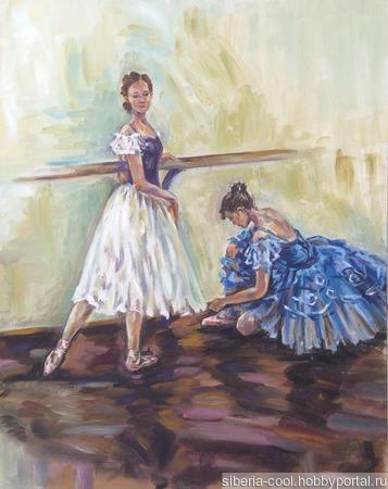 Картина Балерины ручной работы на заказ