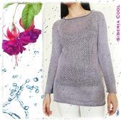 Вязаный свитер Серебро