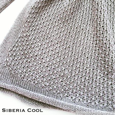 Вязаный свитер Серебро ручной работы на заказ