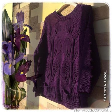 Вязаный свитер Лианы ручной работы на заказ