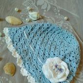 Летняя шапочка панамка вязаная крючком