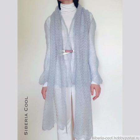 Вязаные кофта и шарф Нежность ручной работы на заказ