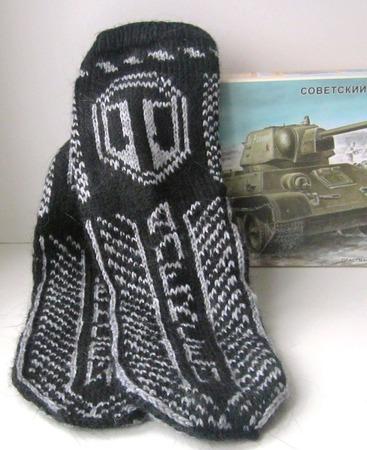 """Носки """"Мир танков"""" ручной работы на заказ"""