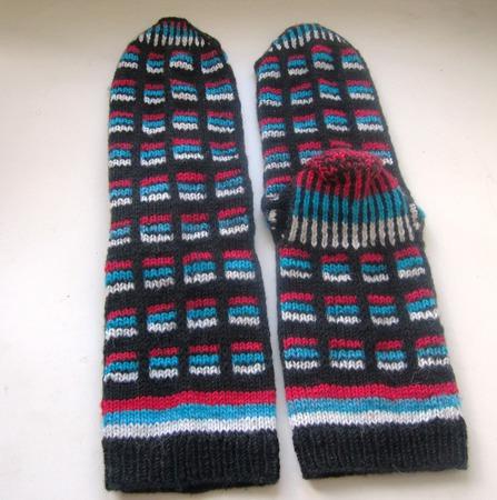 Подарок мужчине на 23 носки Триколор шерстяные ручной работы на заказ