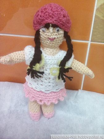 Кукла девочка с длинными волосами ручной работы на заказ