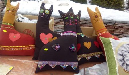 """Подушка-игрушка """"Бывалинский кот"""" ручной работы на заказ"""