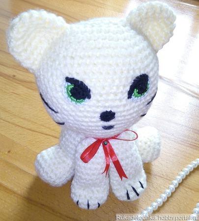 Кот - игрушка для ребенка, котенок игрушечный! (погремушка) ручной работы на заказ