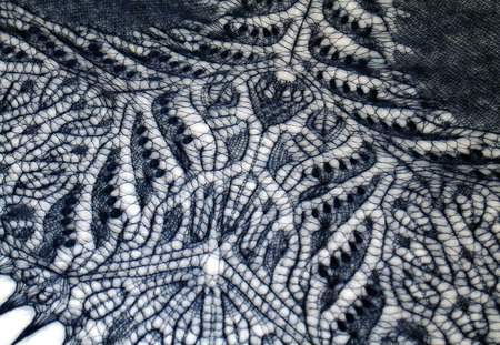"""Ажурная шаль """"Чертополох"""" из тонкого итальянского кид-мохера ручной работы на заказ"""