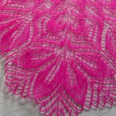 Ажурная шаль из тонкого итальянского кид-мохера Фуксия